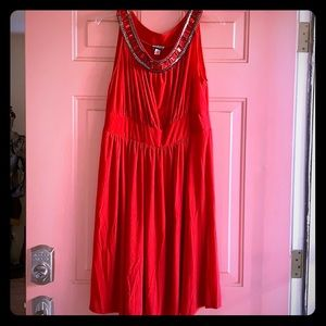Red dress, size XL